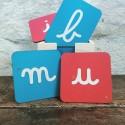 Planches de lettres cursives rugueuses Montessori