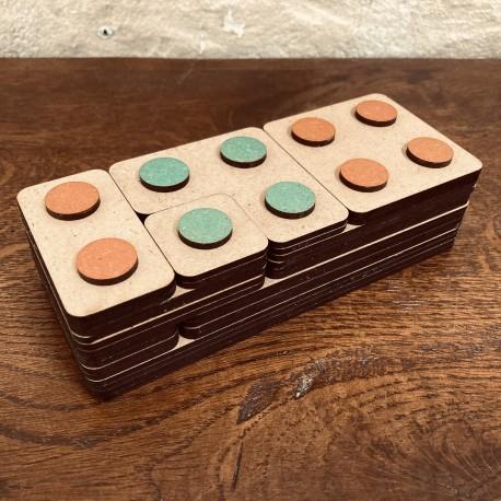 Briques des nombres en bois Montessori Mazafran decomposition